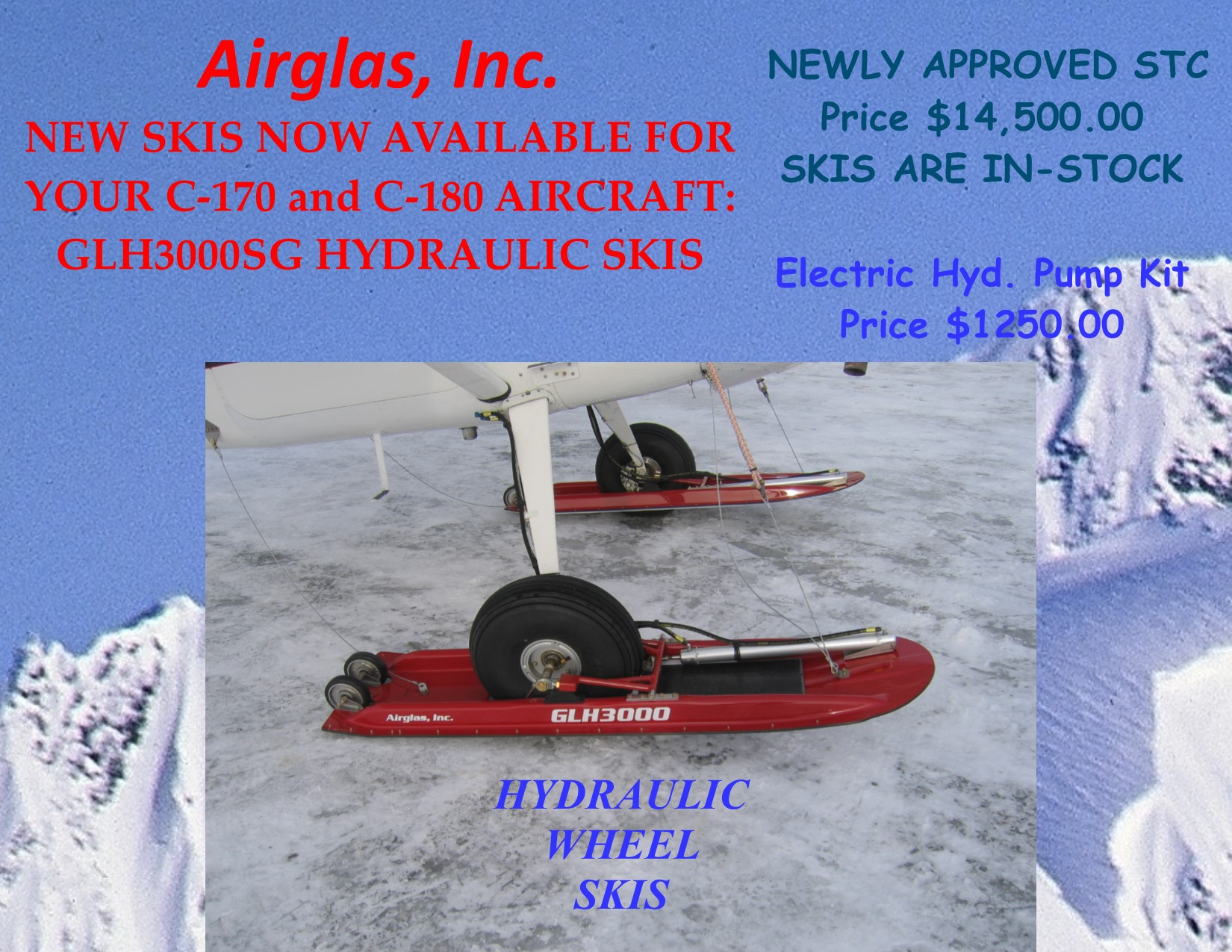 Airglass wheel penetration ski manufacture